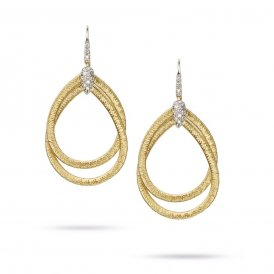 Marco Bicego Cairo Drop Earrings – 18ct Yellow Gold/Diamond ~ OG325-B-YW