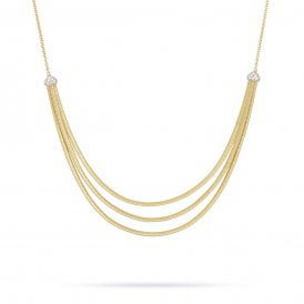 Marco Bicego Cairo Three Strand Necklace – Yellow Gold/Diamond ~ CG715-B-YW