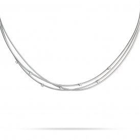 Marco Bicego Goa Three Strand Necklace – 18ct White Gold/Diamond ~ CG617-B-W