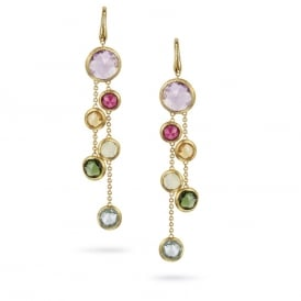 Marco Bicego Jaipur Drop Earrings - Yellow Gold/Mixed Gemstones ~ OB903-MIX01-Y
