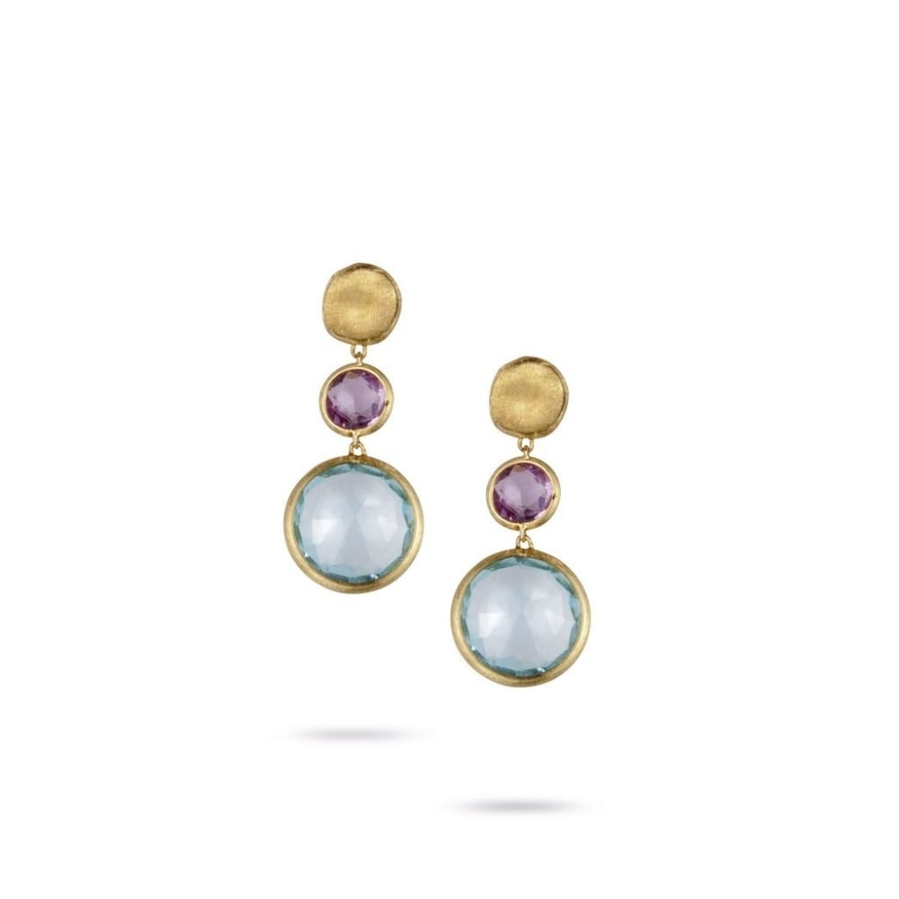 7ee4262e53f2 Marco Bicego Jaipur Earrings - Yellow Gold Topaz Amethyst ~ OB900-MIX52-