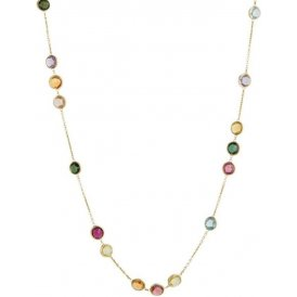 Marco Bicego Jaipur Gold Mixed Stones Necklace ~ CB1309-MIX01-Y