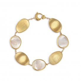 Marco Bicego Lunaria Bracelet – Yellow Gold/Mother-of-Pearl ~ BB2099-MPW-Y