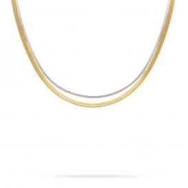Marco Bicego Masai Two Strand Necklace – 18ct Yellow/White Gold ~ CG721-YW