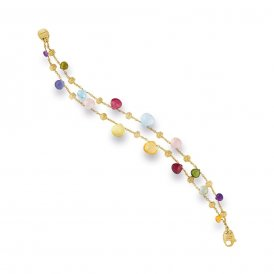 Marco Bicego Paradise Two Strand Bracelet – Yellow Gold/Mixed Gemstones ~ BB1906-MIX01-Y