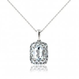 Mark Milton White Gold Aquamarine Pendant