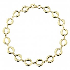 Mark Milton Yellow Gold Oval Link Bracelet