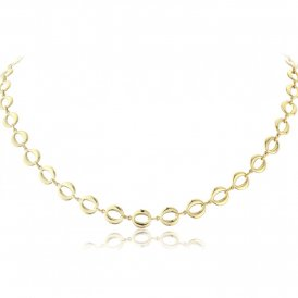 Mark Milton Yellow Gold Oval Link Necklace