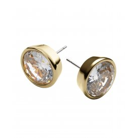 Michael Kors Crystal Gold-Tone Medium Stud Earrings MKJ1056710
