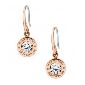 Michael Kors Logo Rose Gold Drop Earrings ~ MKJ5339791