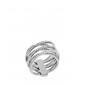 Michael Kors Silver Crystal Pave Ring MKJ4423040