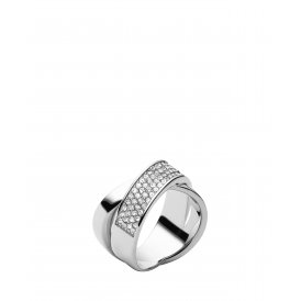 Michael Kors Steel Criss Cross Ring ~ MKJ2868040