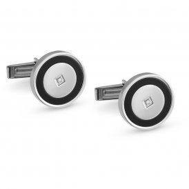 Nomination Class Circle Steel Cufflinks ~ 024815/011