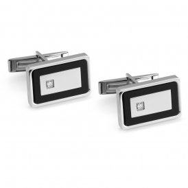 Nomination Class Rectangle Steel Cufflinks ~ 024815/010