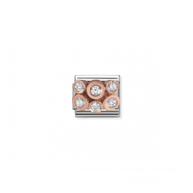 Nomination Classic Cluster Link - Silver/Rose Gold ~ 430306/01