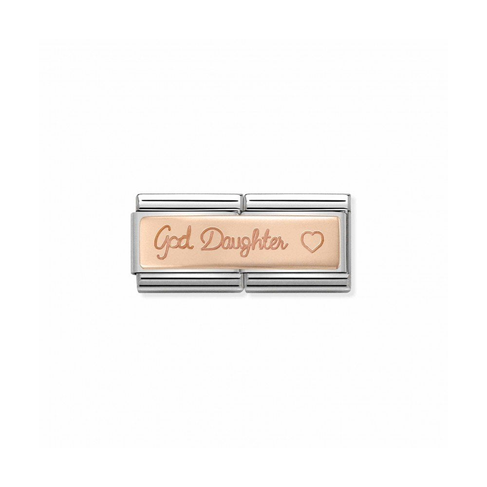 584cb4291 Nomination Classic God Daughter Double Link - Rose Gold ~ 430710/06 ...