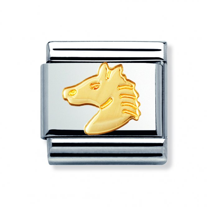 Nomination Composable Gold Horse Head Link ~ 030112/10