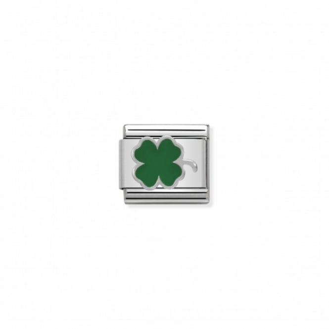 Nomination Composable Silver Green Clover Link ~ 330202/12