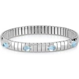 Nomination Extension Bracelet & Blue Topaz Stones ~ 043313/001