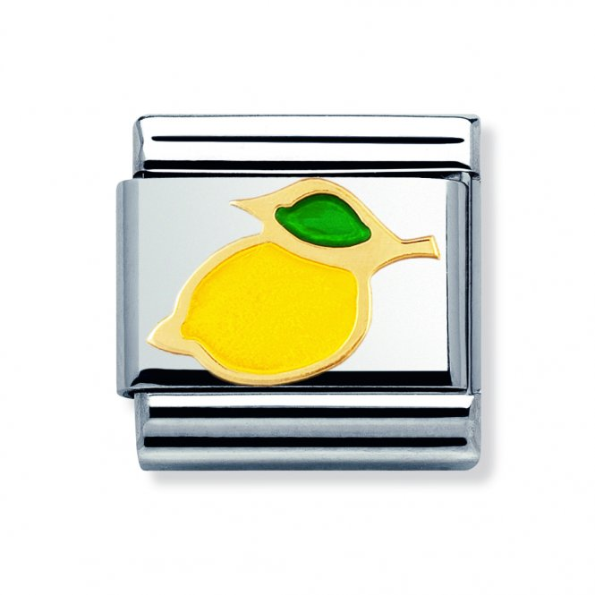 Nomination Gold & Enamel Lemon