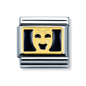 Nomination Gold & Enamel Smiling Mask