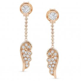 Nomination Rose Gold Angel Earrings ~ 145340/011