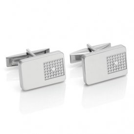 Nomination Steel & Diamond Cufflinks ~ 026015/002