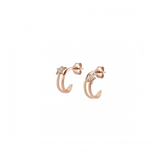 Nomination Stella Star Hoop Earrings Rose Gold ~ 146715/011