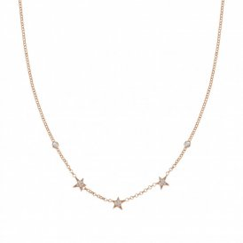 Nomination Stella Tri-Star Necklace Rose Gold ~ 146711/011