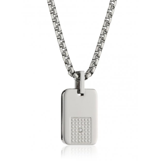 Nomination Style Steel & Diamond Necklace ~ 026012/002