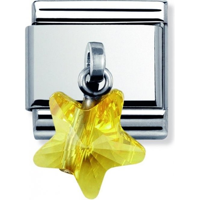 Nomination Swarovski Crystal Yellow Star