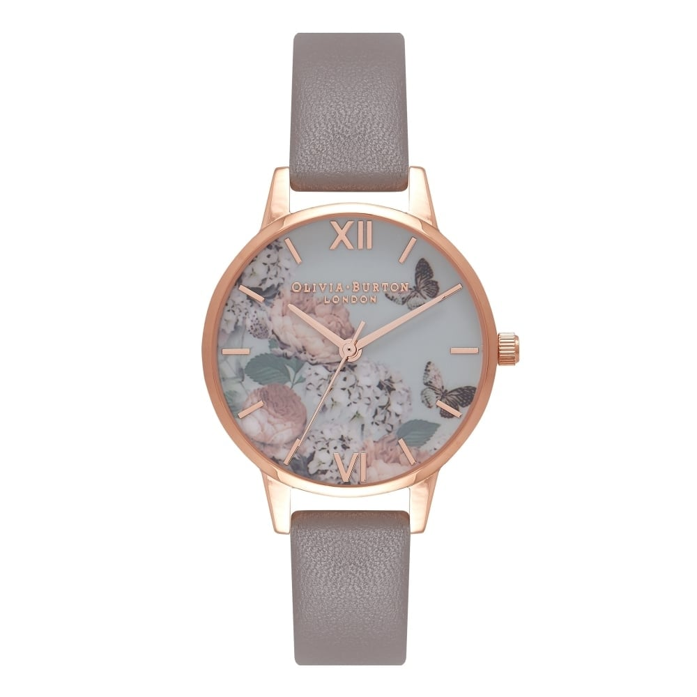 Olivia Burton Signature Floral London Grey and Rose Gold Watch - OB16EG67 574353f5b