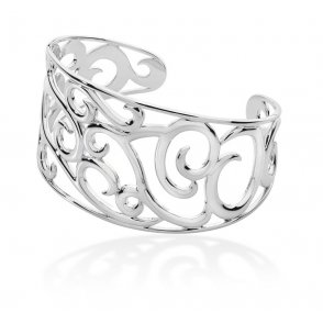 Lucy Q Silver Element Air Bangle ~ ELBG1A
