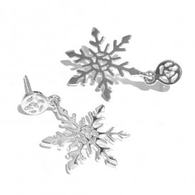 Rachel Galley Snowflake Earrings Silver ~ SF400-SV