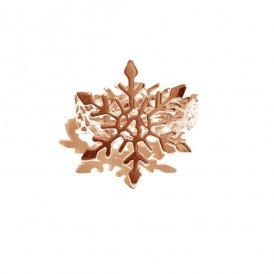 Rachel Galley Snowflake Rose Ring Small L ~ SF300-RG-SM