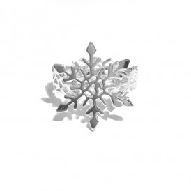 Rachel Galley Snowflake Silver Ring Large P ~ SF300-SV-LG