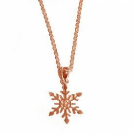 Rachel Galley Snowflake Small Pendant Rose Gold ~ SF101-RG