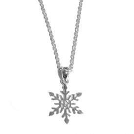 Rachel Galley Snowflake Small Pendant Silver ~ SF101-SV