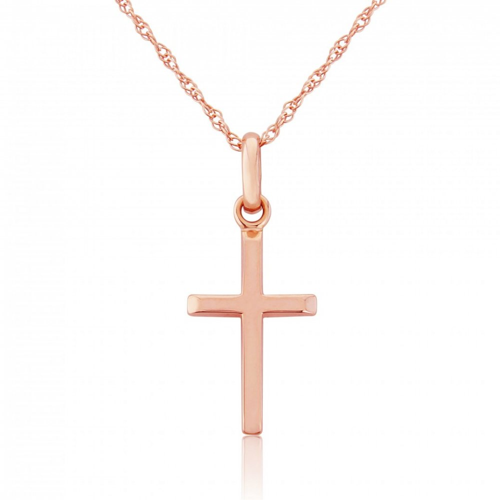 Rose gold cross pendant d77364r jewellery from sarah layton rose gold cross pendant d77364r aloadofball Choice Image