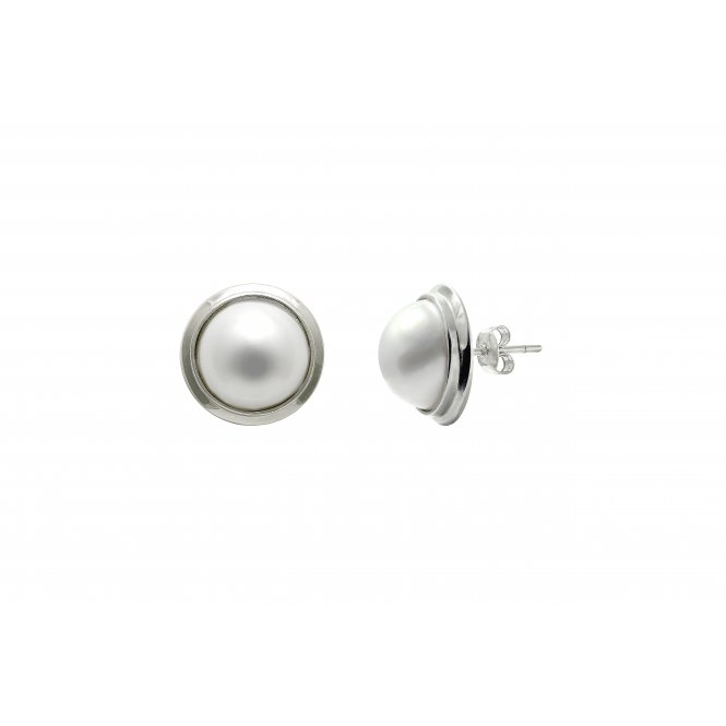 Sarah Layton 10-11mm Silver Pearl Earrings ~ ESMABESIL10