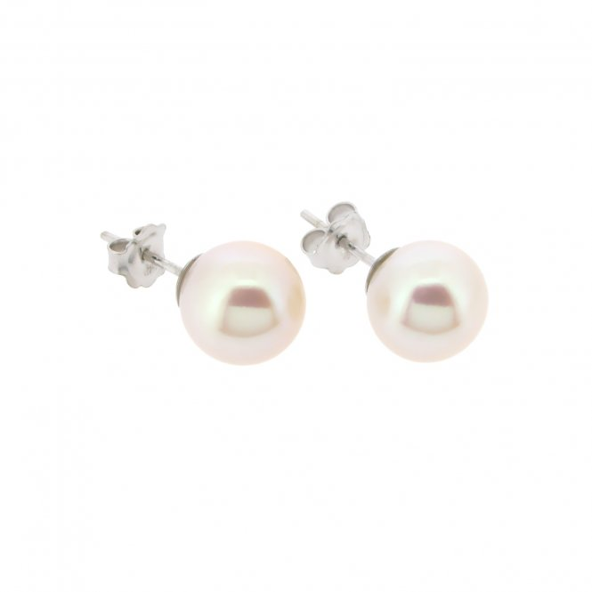 Sarah Layton 11.5-12mm White Gold Pearl Earrings ~ ESNW10