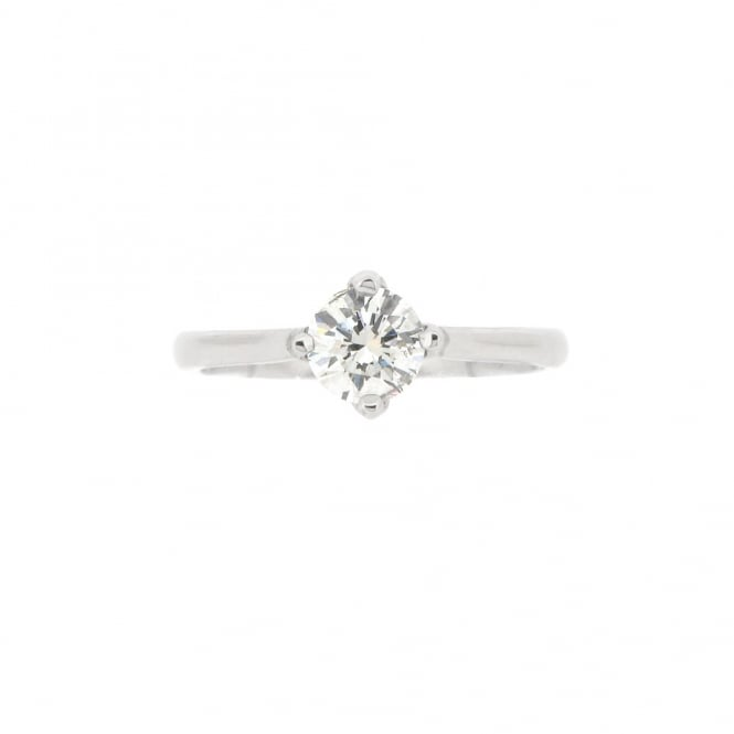 Sarah Layton Bespoke Platinum Solitaire Diamond Engagement Ring ~ SLB-PLT-R-002