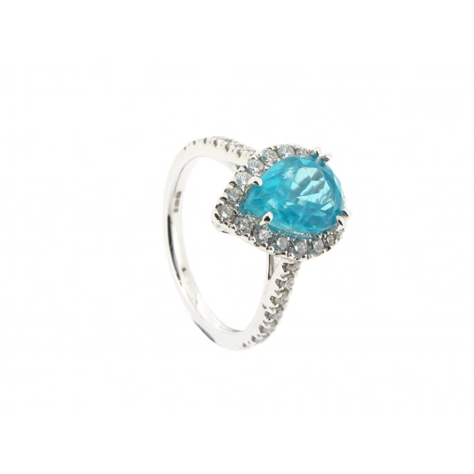Sarah Layton Blue Apatite & Diamond Cocktail Ring ~ RX4793V1
