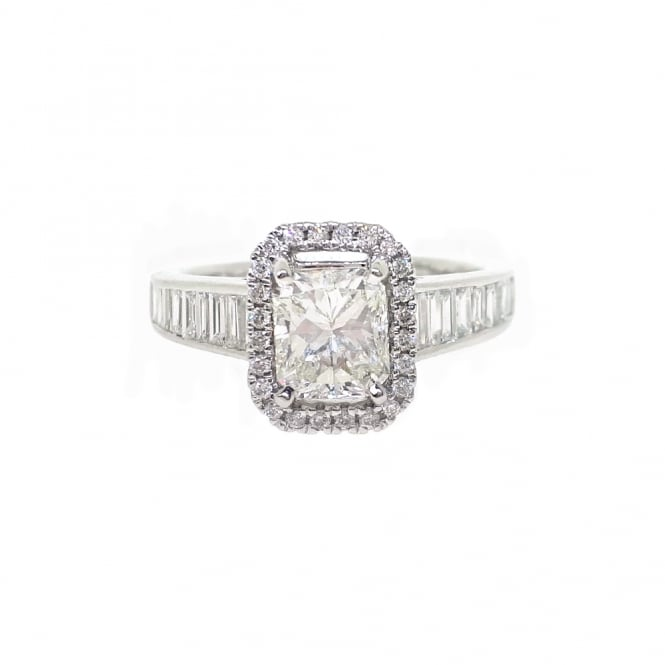 Sarah Layton Platinum Korloff Cut Diamond Engagement Ring - SLJ174