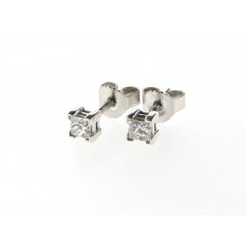Sarah Layton Princess-Cut 0.30ct Solitaire Diamond Earrings ~ 0.30CTSQUARESOLEARSTUDS
