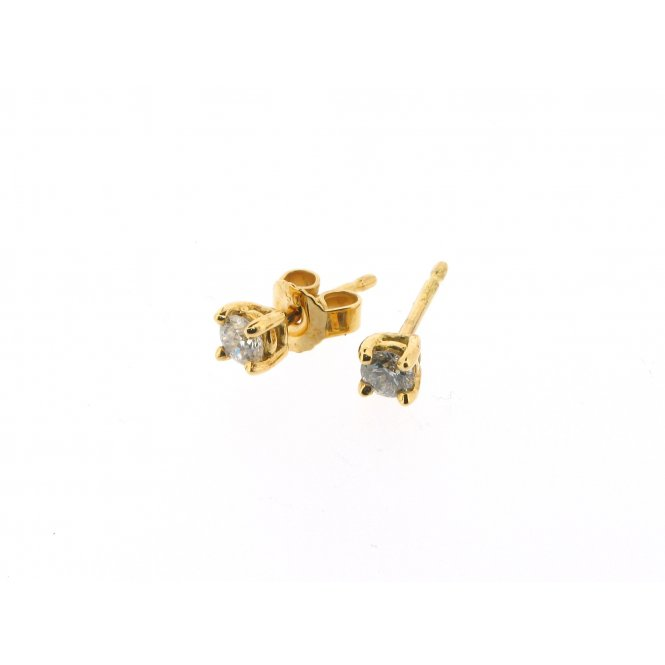 Sarah Layton Yellow Gold Solitaire Diamond Earrings ~ MGER0064/034