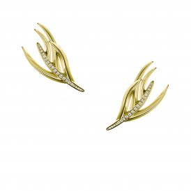 Shaun Leane Gold & Diamond Small Feather Earrings ~ SLS669GP