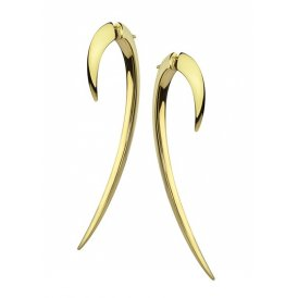 Shaun Leane Gold Vermeil Plated Hook Earrings Size 2 ~ SLS269