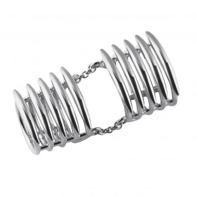 Shaun Leane Quill Long Finger Ring - Silver - Size M ~ SLS560M