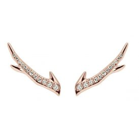Shaun Leane Rose Gold Diamond Cherry Branch Earrings ~ SLS601RG